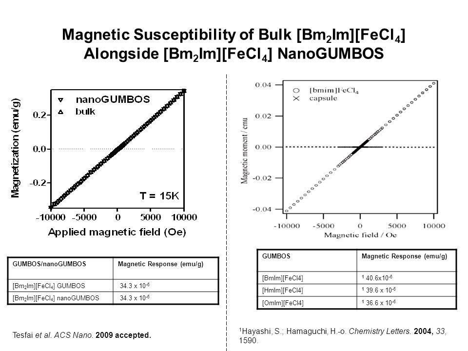 Magnetic Susceptibility of Bulk [Bm2Im][FeCl4] Alongside [Bm2Im][FeCl4] NanoGUMBOS